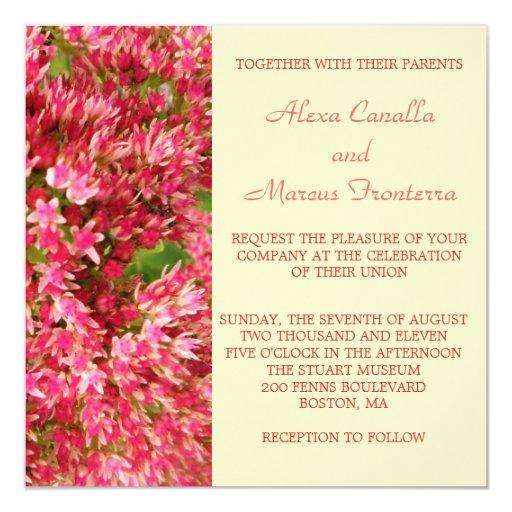 La caída colorea la invitación del boda