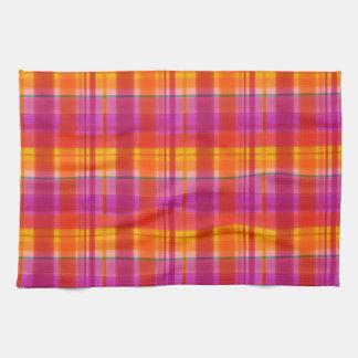 La caída colorea la tela escocesa toallas