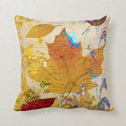 La caída colorida deja la almohada del personaliza