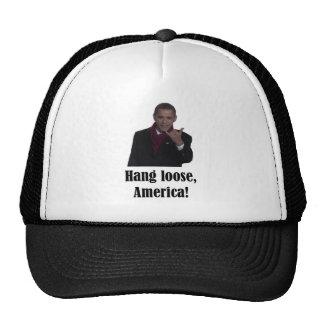 La caída de Barack Obama suelta, muestra de Améric Gorro De Camionero