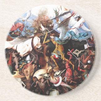 """La caída de Bruegel """"de los ángeles rebeldes"""" (156 Posavasos Personalizados"""