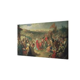 La caída de Granada en 1492, 1890 Impresiones En Lona