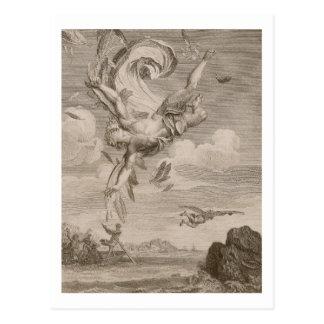 La caída de Ícaro, 1731 (grabado) Postal