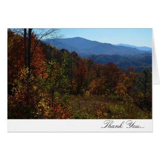 La caída de la montaña de Ridge azul le agradece Felicitaciones