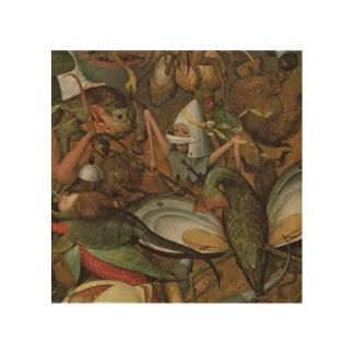 La caída de los ángeles rebeldes, 1562 cuadro de madera