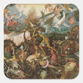 La caída de los ángeles rebeldes, 1562 calcomanias cuadradas