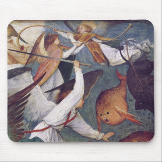 La caída de los ángeles rebeldes alfombrillas de ratón