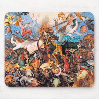 La caída de los ángeles rebeldes de Pieter Bruegel Mousepads