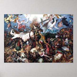 La caída de los ángeles rebeldes de Pieter Bruegel Impresiones