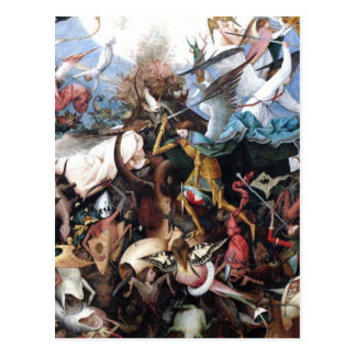 La caída de los ángeles rebeldes de Pieter Bruegel Postal