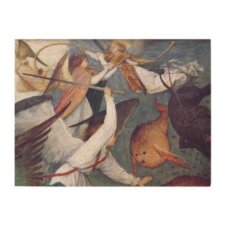 La caída de los ángeles rebeldes cuadro de madera