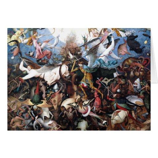 La caída de los ángeles rebeldes - Pieter Bruegel Tarjeta De Felicitación