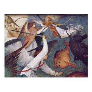 La caída de los ángeles rebeldes postal