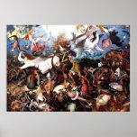 "La caída de Pieter Bruegel ""de los ángeles rebelde Poster"