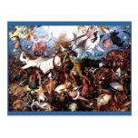 """La caída de Pieter Bruegel """"de los ángeles rebelde Postal"""