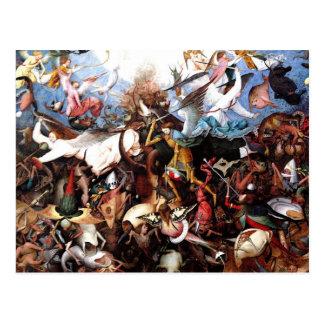 """La caída de Pieter Bruegel """"de los ángeles rebelde Postales"""