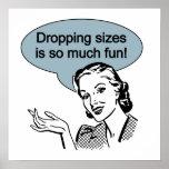 La caída de tamaños es tanto diversión poster
