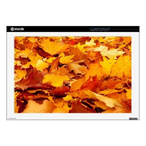 La caída deja a otoño la cubierta de tierra 43,2cm portátil calcomanías