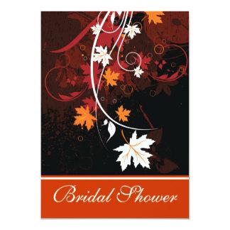 La caída deja a rojo anaranjado el boda blanco invitacion personal