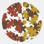 La caída deja diseño de los colores de la silueta pegatinas