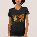 La caída deja diseño de los colores de la silueta camiseta