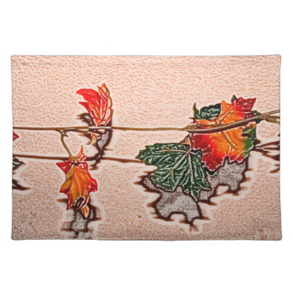 la caída deja el naranja de la hoja del otoño de manteles individuales