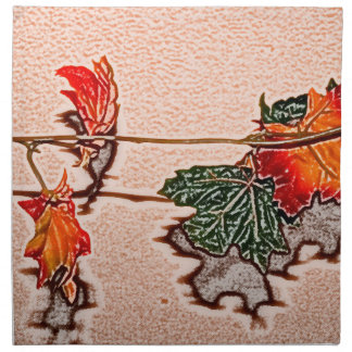 la caída deja el naranja de la hoja del otoño de servilletas de papel