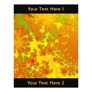 La caída deja fractal. Art. abstracto Tarjeta Publicitaria