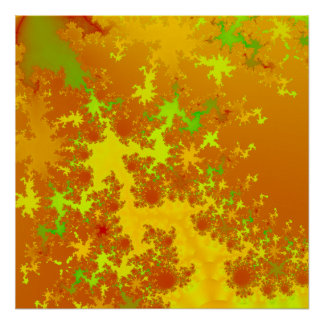 La caída deja fractal. Art. abstracto Poster