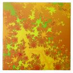 La caída deja fractal. Extracto decorativo Art. Tejas Ceramicas