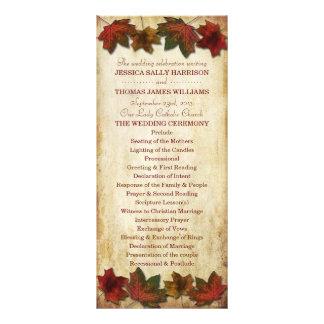 La caída deja programa del boda tarjeta publicitaria a todo color