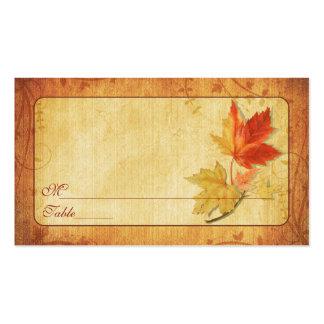 La caída deja tarjetas del lugar de la ocasión tarjetas de visita