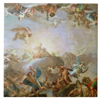 La caída del Giants que sitia Olympus, 1764 (oi Azulejo Cuadrado Grande