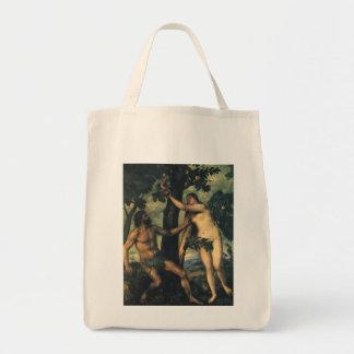 La caída del hombre; Adán y Eva por Titian