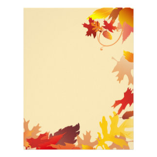 La caída del otoño deja el papel con membrete plantilla de membrete