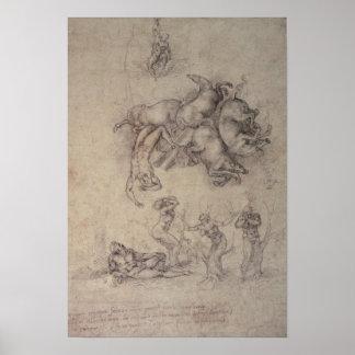 La caída del Phaethon, 1533 Poster