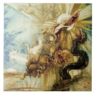 La caída del Phaethon (w/c en el papel) Azulejo Cuadrado Grande