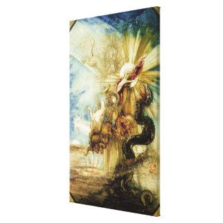 La caída del Phaethon (w/c en el papel) Lienzo Envuelto Para Galerías