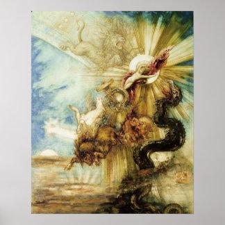 La caída del Phaethon (w/c en el papel) Poster