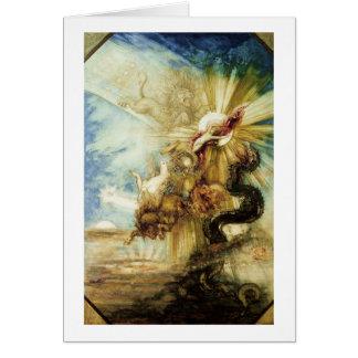 La caída del Phaethon (w/c en el papel) Tarjeta
