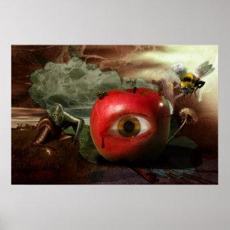 La caída del poster del jardín de Eden