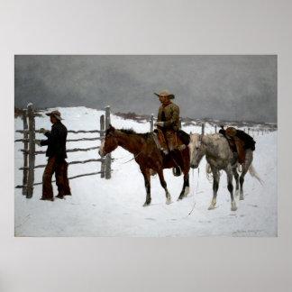 La caída del vaquero póster