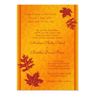 La caída elegante deja la invitación del boda