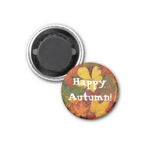 La caída feliz del otoño deja el imán de encargo