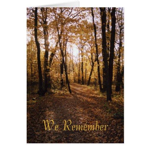 La caída path1, recordamos tarjeta de felicitación
