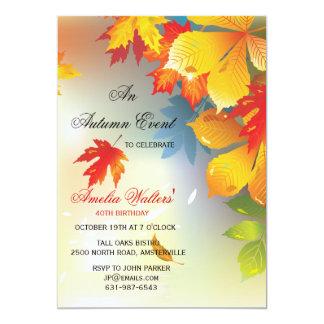 La caída radiante colorea la invitación