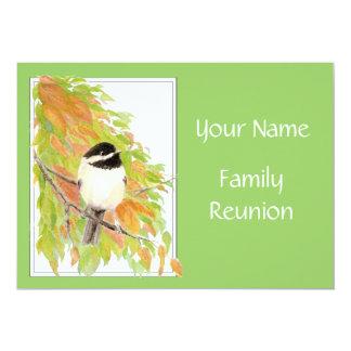 """La caída, reunión de familia invita, naturaleza, invitación 5"""" x 7"""""""