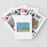 La caída suelta cartas de juego