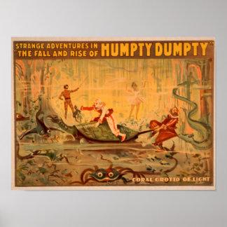 La caída y la subida del teatro de Humpty Dumpty Póster