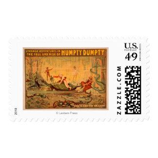 La caída y la subida del teatro de Humpty Dumpty Sellos